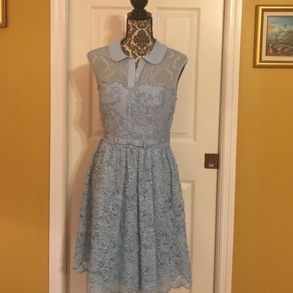 d256ed38873333 Ted Baker Baby blue lace dress. M 56360319b4188e792d019bb8
