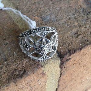 Jewelry - BLACK SWISS MARCASITE RING