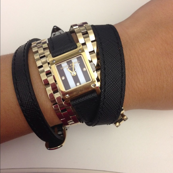 Henri Bendel Accessories Wrap Watch And Chain Wrap Bracelet Poshmark