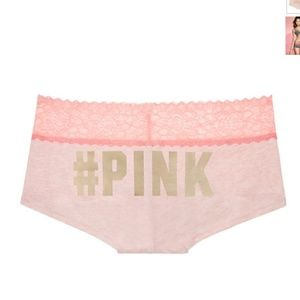 PINK Victoria's Secret Other - Victoria's Secret PINK Lace Trim Boyshort Panties