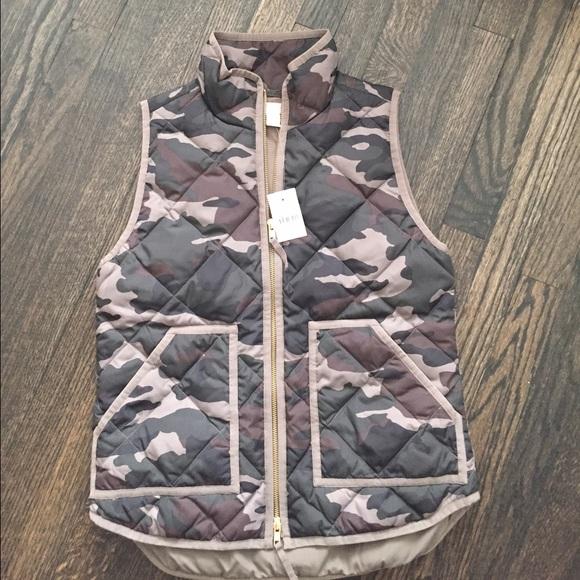 J. Crew Jackets & Coats - Jcrew camo vest 🅿️🅿️ $115