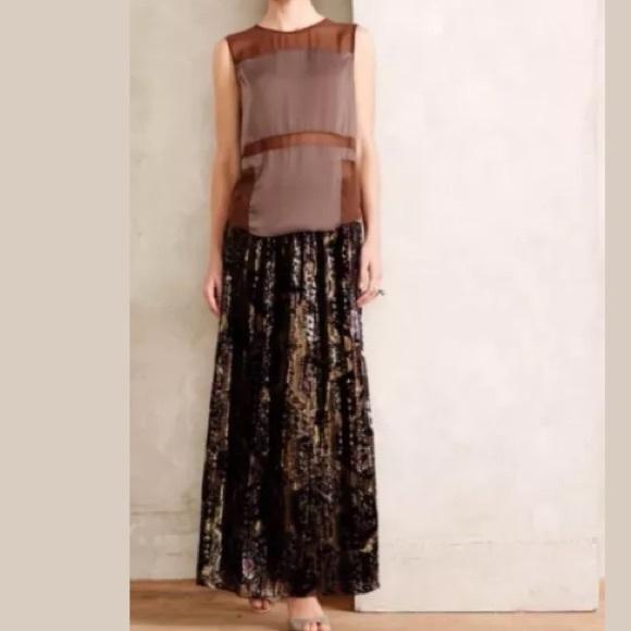 5ed5c847c2 Anthropologie Dresses & Skirts - 🎉SALE🎉Anthropologie Rhiannon Burnout Velvet  Maxi