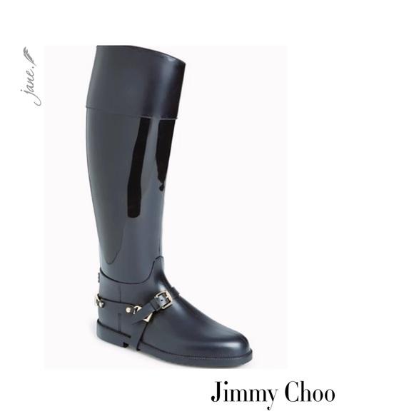 f6738ccb1ea Jimmy Choo Shoes | Cheshire Stirrupstrap Rain Boots | Poshmark