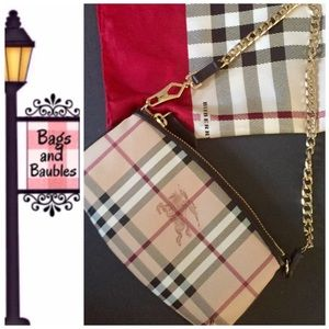 37a85557642d Burberry Bags - New! BURBERRY Clara Haymarket Convertible Wristlet