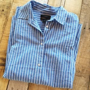 J. Crew Tops - J.Crew boy shirt in tidewater stripe