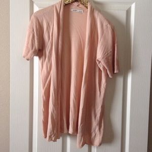 Old Navy peach open front short sleeve cardigan