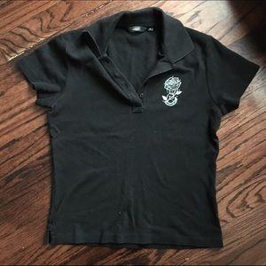 Tops - Black bossini polo tshirt