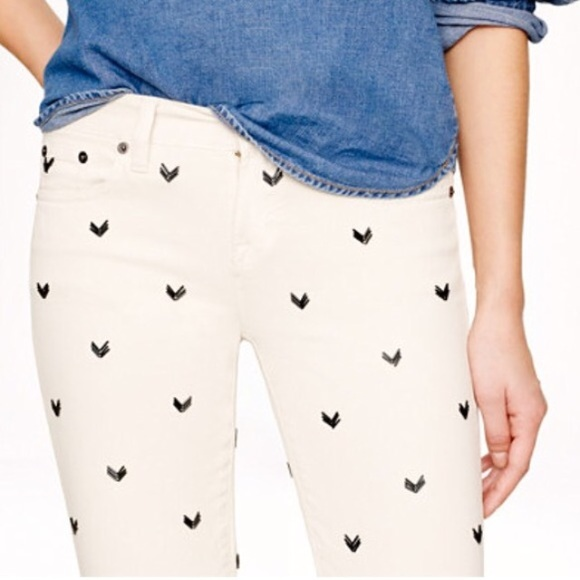 J. Crew Jeans - 💌HP 7/17 Collection Chevron Bead Toothpick Jeans