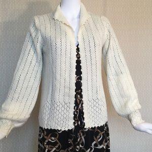 VINTAGE St John Knits cream sweater