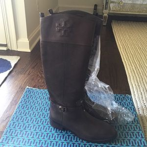 Tory burch Simone brown riding boots
