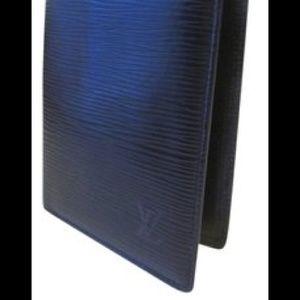 Authentic Louis Vuitton Black Epi Long Wallet