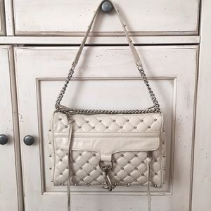 Rebecca Minkoff Studded white MAC cross body bag