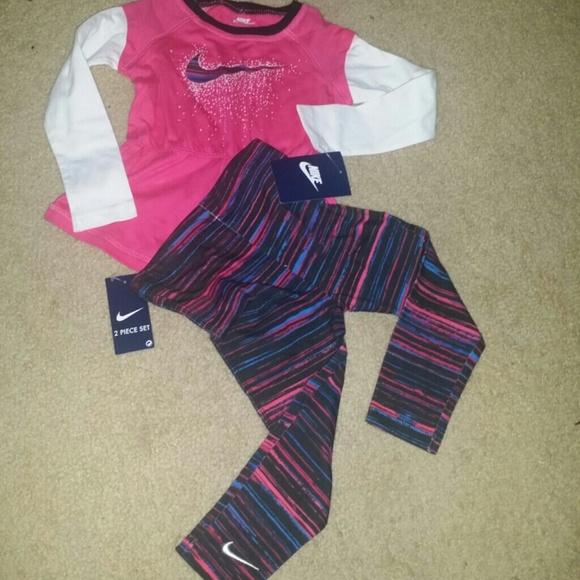 4567052e Nike Shirts & Tops | Girls Toddler Sz 2t Set Shirt Leggings Nwt ...