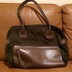 Hogan Handbags - Authentic Hogan Cordura & Leather Baguette Handbag