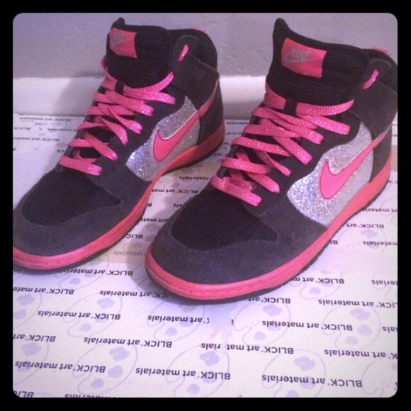 ShoesBlack Sparkly High Nike Top Pink And Poshmark b7Yyfg6v