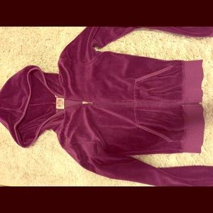 Juicy Couture velour hoodie xs