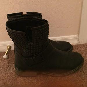 JustFab Black Combat Boots size 9