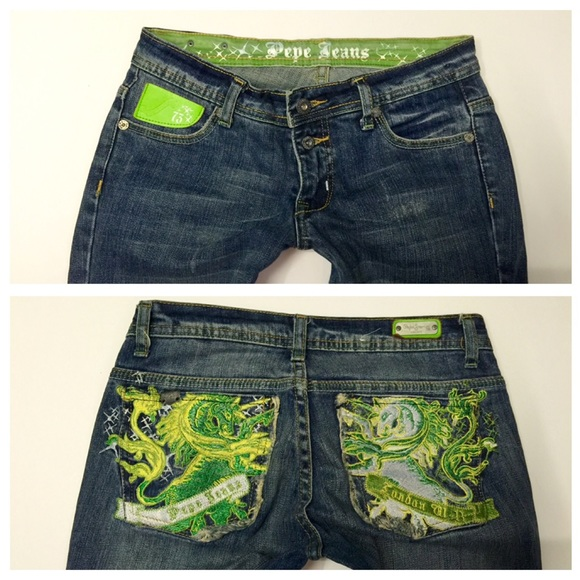 Jeans Adorable Pepe Neon Detail Pocket Poshmark aZnqPOx