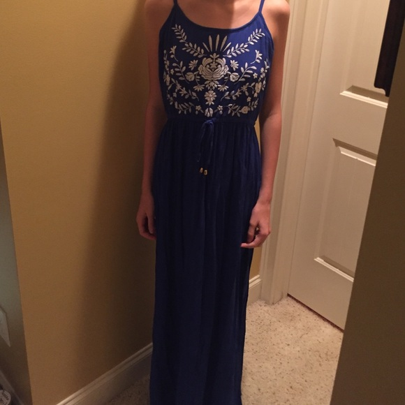 47 tj maxx dresses skirts royal blue maxi dress