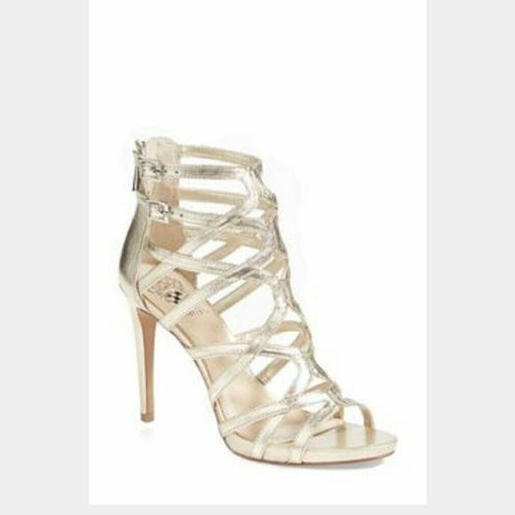 Vince Camuto Shoes Gold Strappy Heels Poshmark
