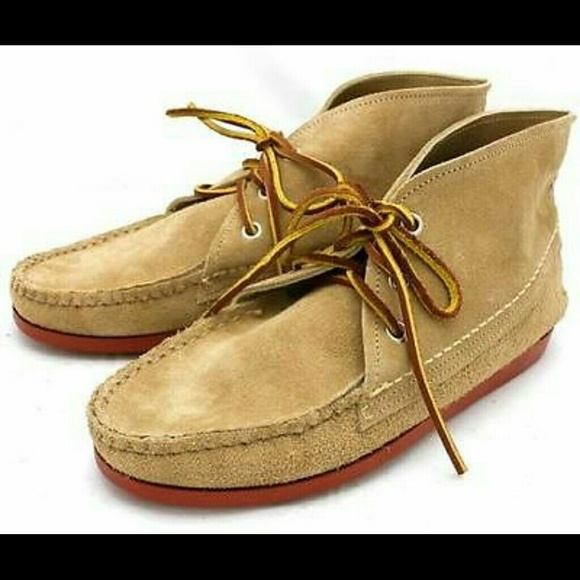 42 Off Quoddy Shoes Quoddy J Crew Suede Chukka Moccasin Boots Beige From Missfavela S Closet On Poshmark