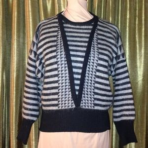 Wool and mohair sweater