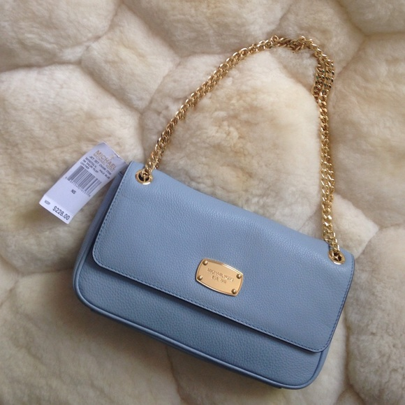 41% off Michael Kors Handbags - Michael Kors Baby Blue Shoulder ...