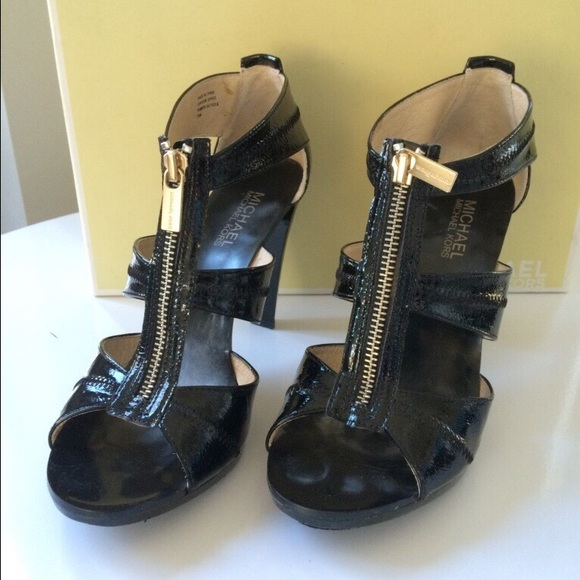 Michael Kors Patent Leather Zip Front