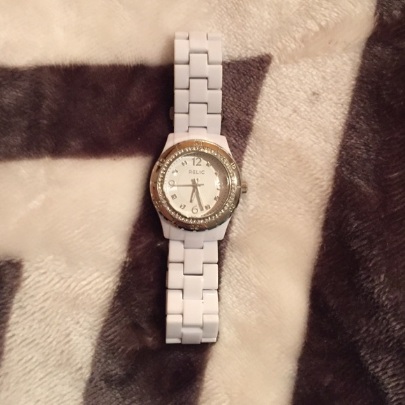 Superb Relic White Band Watch