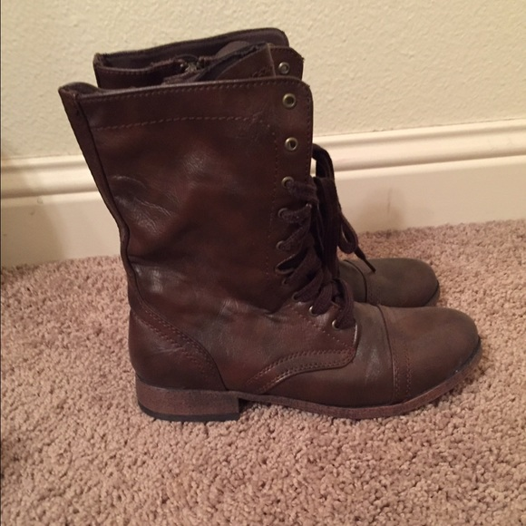 mossimo supply co brown combat boots from abby s closet