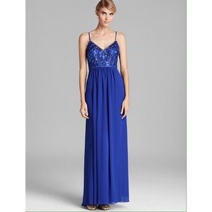Sue Wong V-Neck Beaded Top Dress (Prom or Formal)