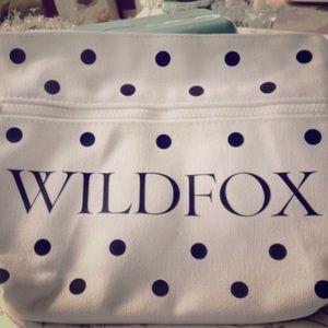  NWTS WILDFOX bikini bag polka dot