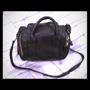 Black Alexander Wang leather Rocco duffle bag