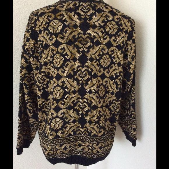 Black Crew Neck Knit Sweater 25