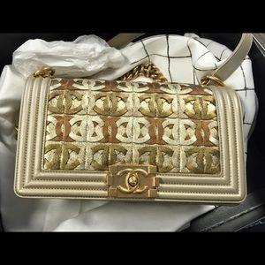 3% off CHANEL Handbags - AUTH CHANEL BOY MEDIUM 2015 DUBAI ...