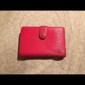 100% Authentic Louis Vuitton Red EPI Bifold Wallet