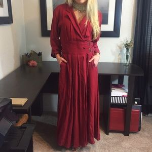 Vintage Karen Alexander Crimson Dress