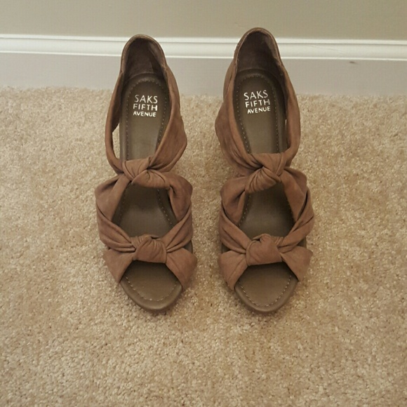 Shoes - Barely worn wedges from Saks Fifth Avenue