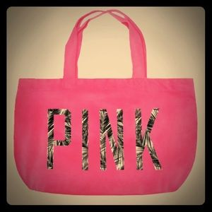 VS PINK Tropical Palms Print Tote