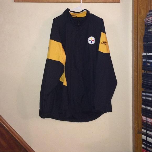 detailed look c34e5 6c4a6 Pittsburgh Steelers Mens XL Windbreaker Jacket