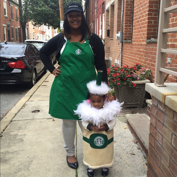Mommy Me Starbucks Halloween Outfit