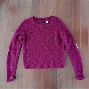 BDG Maroon Elbow Patch Sweater