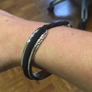 The Grommet Jewelry - Silver Hair Tie Bracelet a20a69769ad