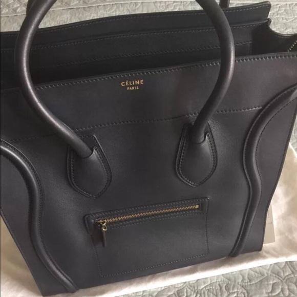36% off Celine Handbags - Celine Medium Luggage Navy Bag from ...