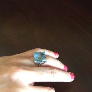 Jewelry - Topaz solitaire in sterling silver!