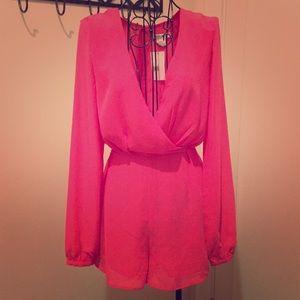 Glamorous Pink Romper