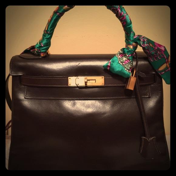 3ef9cc95269 Hermes Handbags - Hermes Kelly 28 Brown Chocolate Box Calf GHW