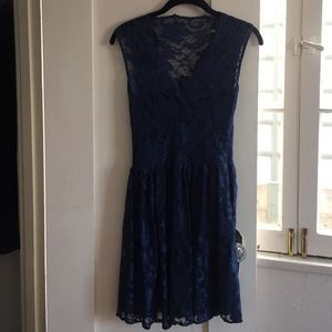 Romantic Navy Lace Dress