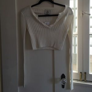 New with tags! Ivory thermal crop top