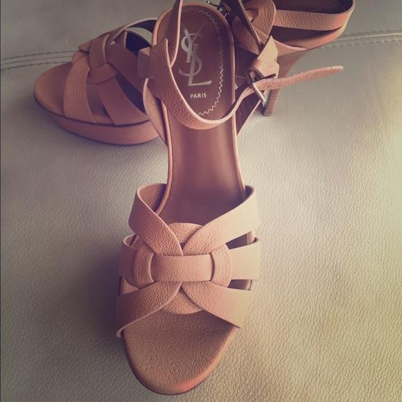 2956dda4e1d Saint Laurent Shoes   Ysl Tribute Classic 4 High Heels Nude   Poshmark